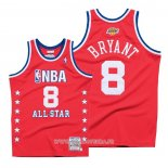 Maillot All Star 2003 Kobe Bryant No 8 Authentique Hardwood Classics Rouge