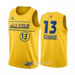 Maillot All Star 2021 Los Angeles Clippers Paul George NO 13 Oro