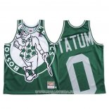 Maillot Boston Celtics Jayson Tatum NO 0 Mitchell & Ness Big Face Vert