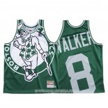 Maillot Boston Celtics Kemba Walker NO 8 Mitchell & Ness Big Face Vert