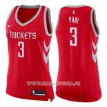 Maillot Femme Houston Rockets Chris Paul No 3 Icon 2017-18 Rouge