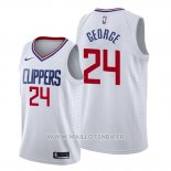 Maillot Los Angeles Clippers Paul George No 24 Association 2019-20 Blanc