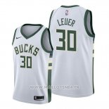 Maillot Milwaukee Bucks Jon Leuer No 30 Association Blanc