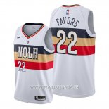 Maillot New Orleans Pelicans Derrick Favors No 22 Earned Blanc