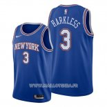 Maillot New York Knicks Maurice Harkless No 3 Statement 2019-20 Bleu