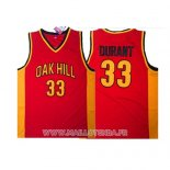 Maillot Oak Hill Kevin Durant No 33 Rouge