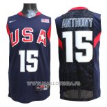 Maillot USA 2008 Anthony No 15 Bleu