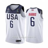 Maillot USA Joe Harris No 6 2019 FIBA Basketball World Cup Blanc