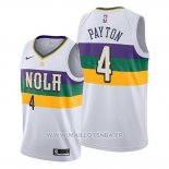 Maillot New Orleans Pelicans Elfrid Payton No 4 Ville Edition Blanc
