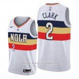 Maillot New Orleans Pelicans Ian Clark No 2 Earned Edition Blanc