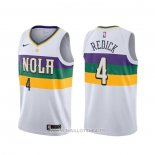 Maillot New Orleans Pelicans J.j. Redick No 4 Earned Blanc2