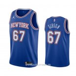 Maillot New York Knicks Taj Gibson No 67 Statement 2020-21 Bleu