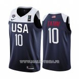 Maillot USA Jayson Tatum No 10 2019 FIBA Basketball World Cup Bleu