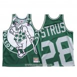 Maillot Boston Celtics Max Strus NO 28 Mitchell & Ness Big Face Vert