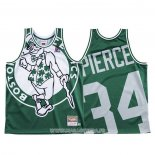 Maillot Boston Celtics Paul Pierce NO 34 Mitchell & Ness Big Face Vert