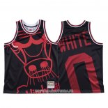 Maillot Chicago Bulls Coby White NO 0 Mitchell & Ness Big Face Noir