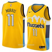 Maillot Denver Nuggets Monte Morris No 11 Statement 2018 Jaune