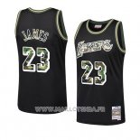 Maillot Los Angeles Lakers Lebron James Camuflaje Noir