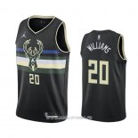 Maillot Milwaukee Bucks Marvin Williams No 20 Statement 2020-21 Noir