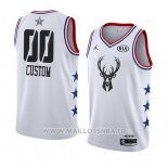 Maillot All Star 2019 Milwaukee Bucks Personnalise Blanc