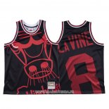Maillot Chicago Bulls Zach Lavine NO 8 Mitchell & Ness Big Face Noir