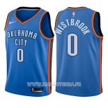 Maillot Enfant Oklahoma City Thunder Russell Westbrook No 0 Icon 2017-18 Bleu