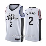 Maillot Los Angeles Clippers Kawhi Leonard No 2 Ville 2019-20 Blanc