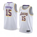 Maillot Los Angeles Lakers Demarcus Cousins No 15 Association 2019-20 Blanc