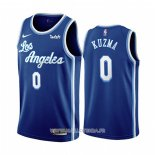 Maillot Los Angeles Lakers Kyle Kuzma No 0 Classic 2019-20 Bleu