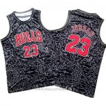 Maillot Chicago Bulls Michael Jordan No 23 Mitchell & Ness Noir2