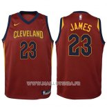 Maillot Enfant Cleveland Cavaliers Lebron James No 23 2017-18 Rouge