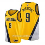 Maillot Indiana Pacers T.j. Mcconnell No 9 Statement Edition Jaune