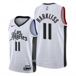 Maillot Los Angeles Clippers Maurice Harkless No 11 Classic 2019-20 Blanc