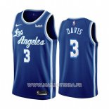 Maillot Los Angeles Lakers Anthony Davis No 3 Classic 2019-20 Bleu