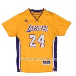 Maillot Manche Courte Los Angeles Lakers Kobe Bryant No 24 Jaune