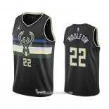 Maillot Milwaukee Bucks Khris Middleton No 22 Statement 2020-21 Noir