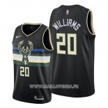 Maillot Milwaukee Bucks Marvin Williams No 20 Noir 2019-20 Statement