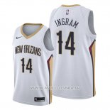 Maillot New Orleans Pelicans Brandon Ingram No 14 Association Blanc