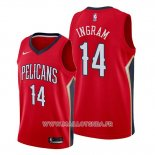 Maillot New Orleans Pelicans Brandon Ingram No 14 Statement Rouge