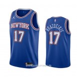 Maillot New York Knicks Ignas Brazdeikis No 17 Statement 2020-21 Bleu