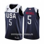 Maillot USA Donovan Mitchell No 5 2019 FIBA Basketball World Cup Bleu
