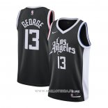 Maillot Los Angeles Clippers Paul George NO 13 Ciudad 2020-21 Negro