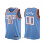 Maillot Los Angeles Clippers Personnalise Ville Bleu