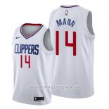 Maillot Los Angeles Clippers Terance Mann No 14 Association 2019-20 Blanc
