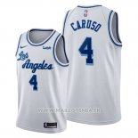 Maillot Los Angeles Lakers Alex Caruso No 4 Classic Edition 2019-20 Blanc