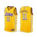 Maillot Los Angeles Lakers Avery Bradley NO 11 Ville 2019-20 Jaune