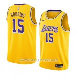Maillot Los Angeles Lakers Demarcus Cousins No 15 Icon 2019-20 Jaune