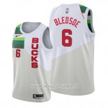 Maillot Milwaukee Bucks Eric Bledsoe No 6 Earned Blanc