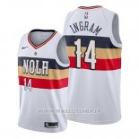 Maillot New Orleans Pelicans Brandon Ingram No 14 Earned Blanc