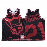 Maillot Chicago Bulls Thaddeus Young NO 21 Mitchell & Ness Big Face Noir